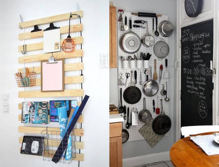 Ideas originales para colgar tus objetos y aprovechar el for Idee per appendere foto