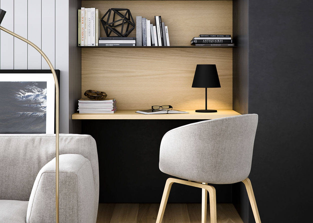 Como integrar el escritorio en el sal n thepich - Integrar escritorio en salon ...